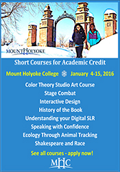 Short Courses for Academic Credit at Mount Holyoke College